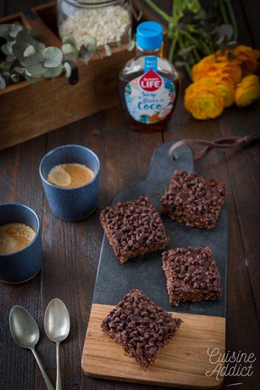 Brownie végétal aux flocons d'avoine