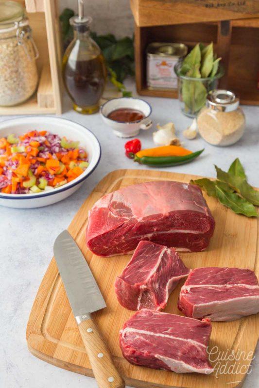 Préparation de pulled beef