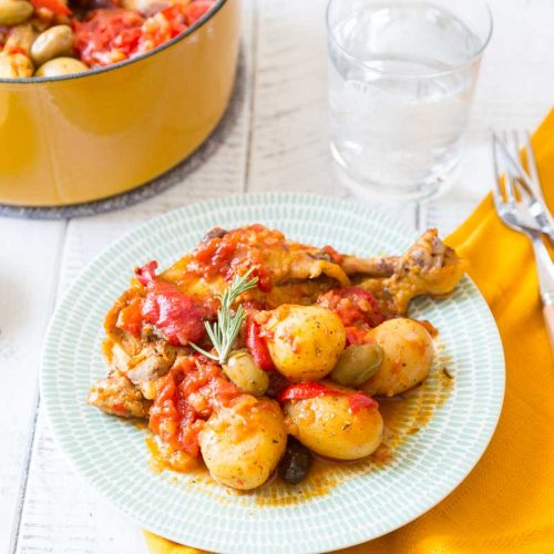 Recette de poulet aux poivrons