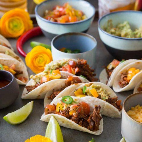 Recette de mini-tacos au pulled beef