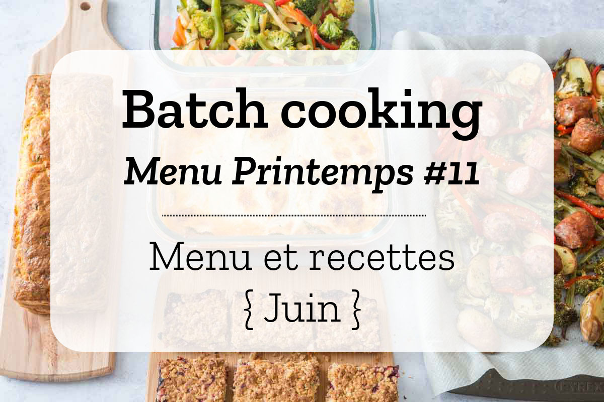 Batch cooking Printemps 11