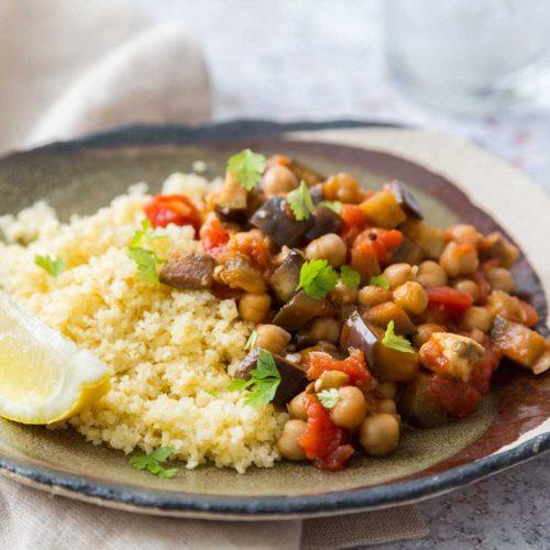 curry de pois chiche et aubergines