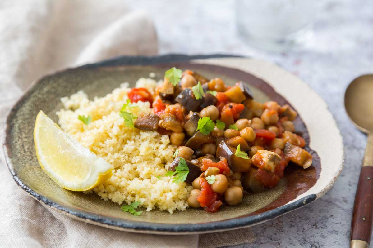 curry de pois chiche et aubergines