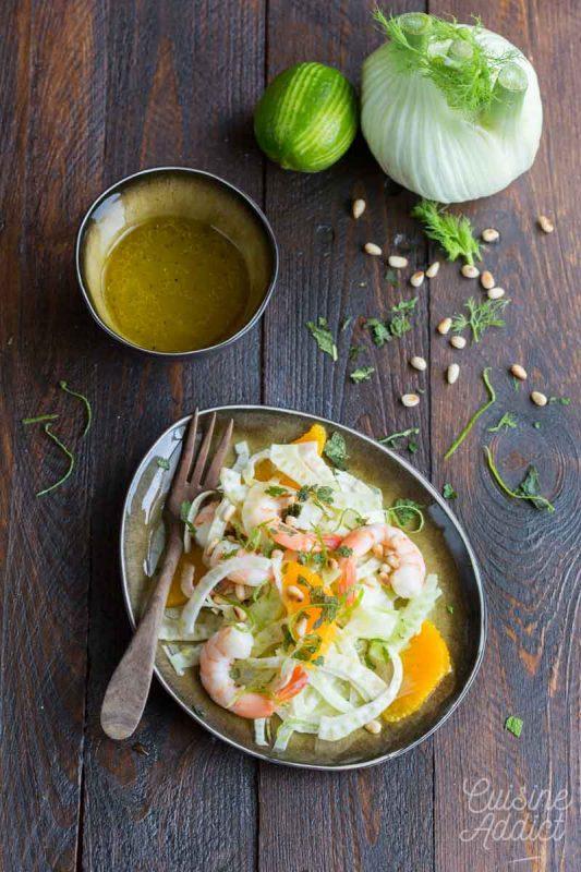 Salade de fenouil et crevettes