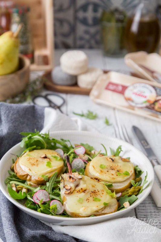 Salade aux poires et chèvre