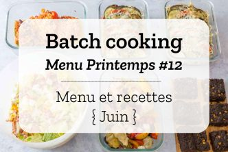 Batch cooking Printemps 12
