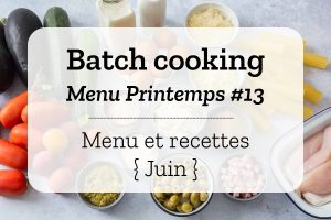 Batch cooking Printemps 13