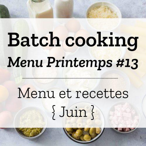 Batch cooking Printemps 13