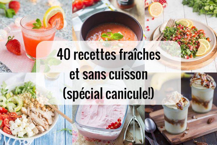 40 recettes fraîches et sans cuisson