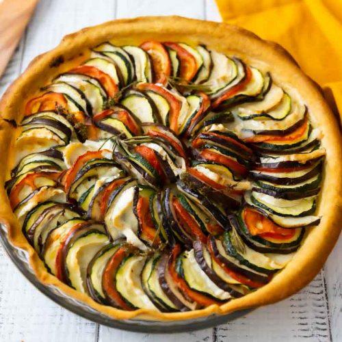 Recette de tarte comme un tian aux légumes