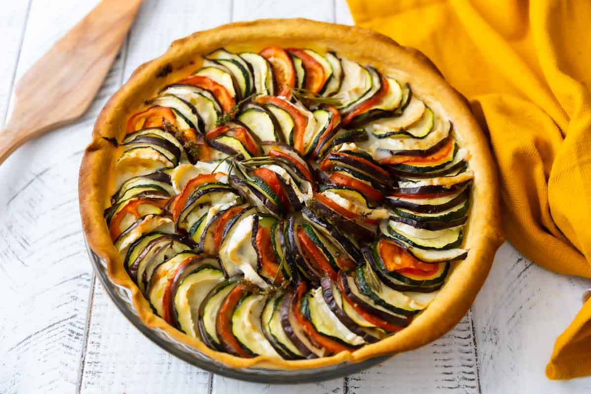 Recette Facile Du Tian Provencal tarte aux légumes comme un tian
