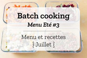 Batch cooking Eté 3