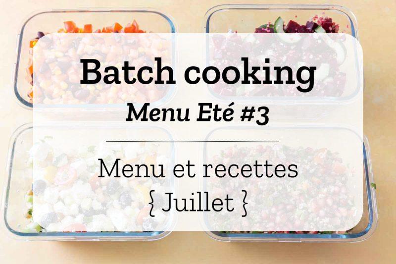 Batch cooking Eté 3