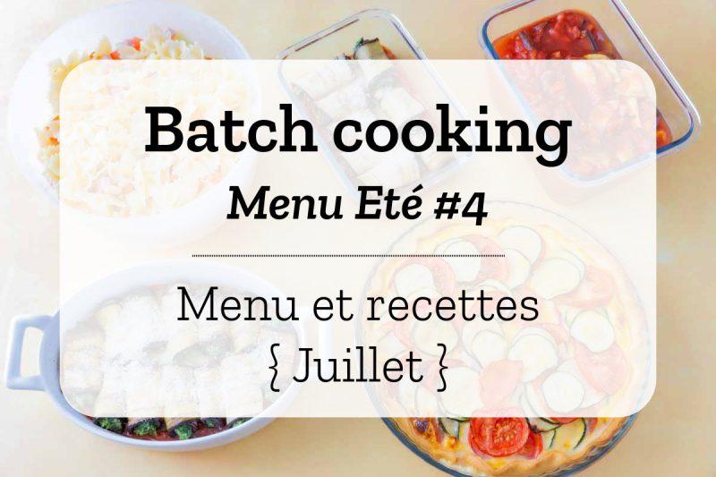Batch cooking Eté 4