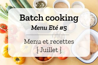 Batch cooking Eté 5