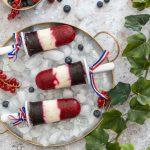 Recette de glace aux fruits tricolore