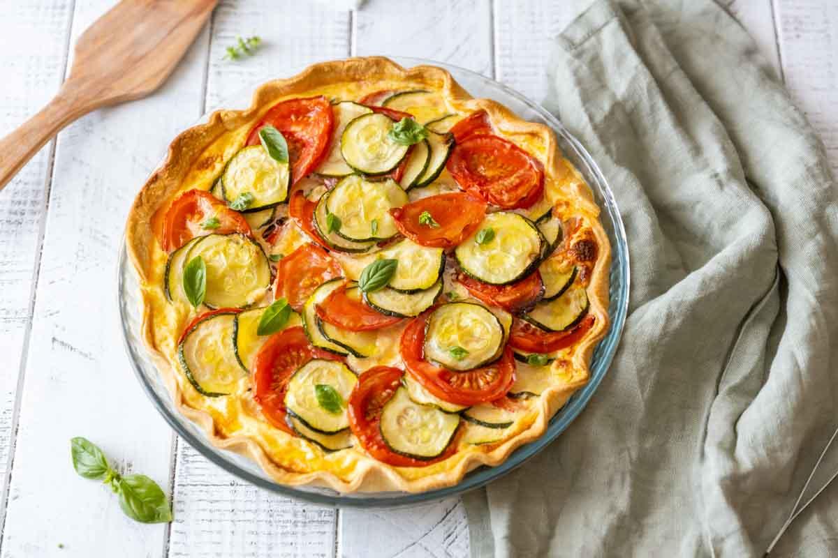 Quiche Aux Tomates Et Courgettes Recette De Tarte Salee