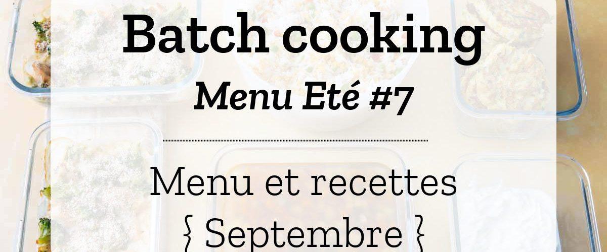 Batch cooking Eté 7