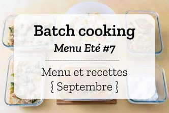 Batch cooking Eté 7