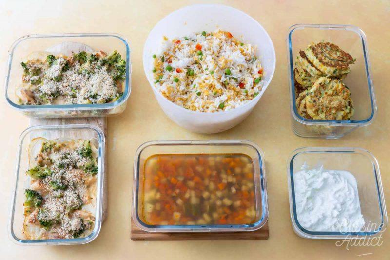 Préparations Batch cooking Eté 7