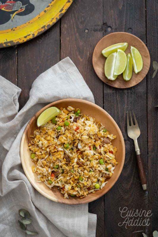 Salade de riz au curry