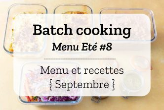 Batch cooking Eté 8