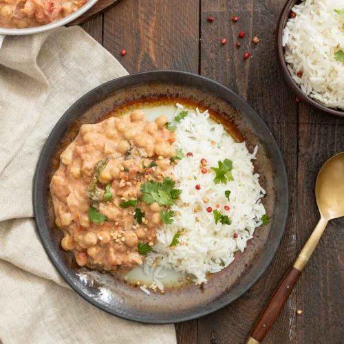 Curry de pois chiche aux épinards