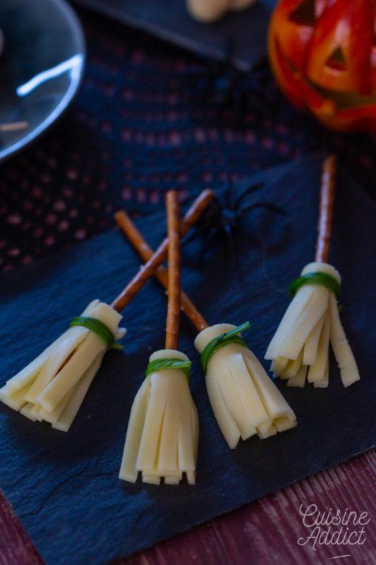 Balais de sorcière pour l'apéritif d'Halloween!
