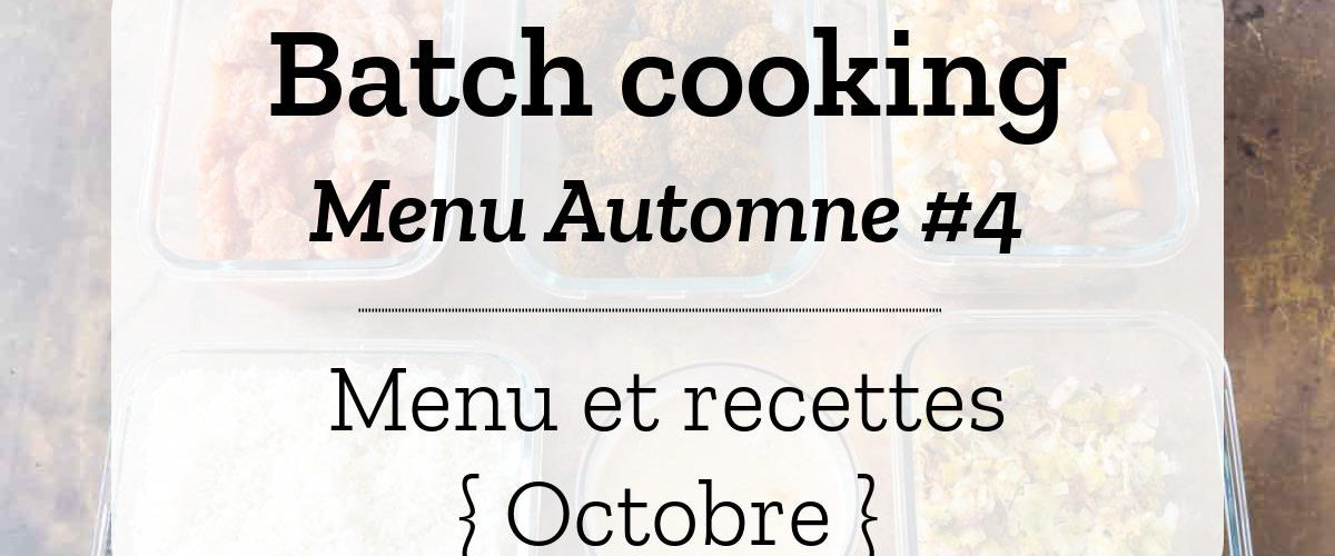 Batch cooking Automne 4