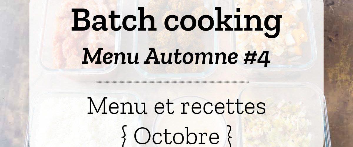 Batch cooking Automne 4