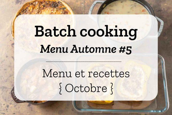 Batch cooking Automne 5
