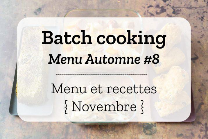 Batch cooking pour la semaine #46