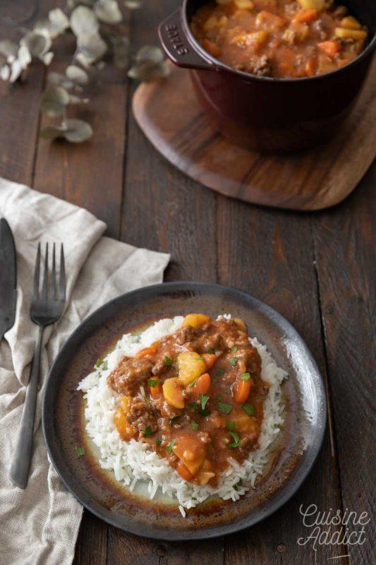 Curry de boeuf aux légumes