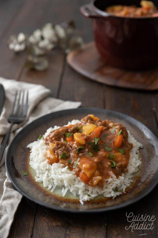 Curry de boeuf haché