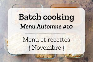 Batch cooking Automne 10