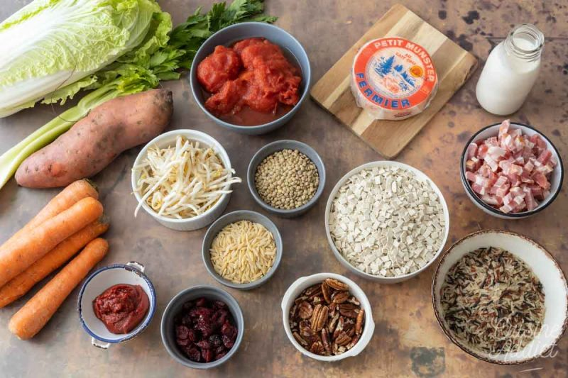 Batch cooking Automne 10 - Ingrédients