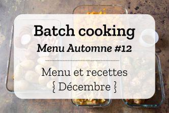 Batch cooking Automne 12