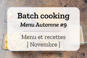 Batch cooking Automne 9