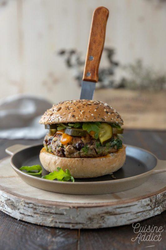Burger végétarien aux champignons