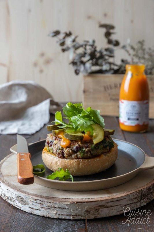 Montage burger végétarien
