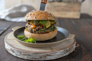 Recette de burger végétarien aux champignons