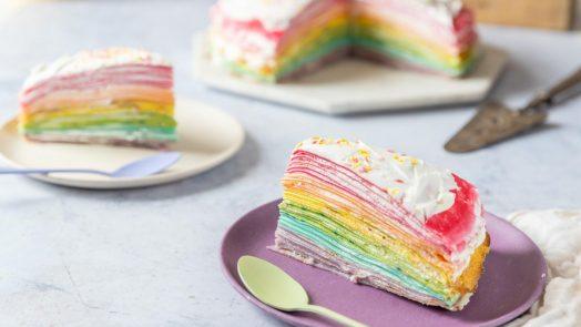 Recette de gâteau de crêpes multicolore