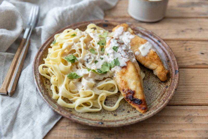 Recette de poulet à la crème d'ail