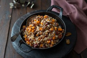 Recette de riz sauté aux cranberries et noix de pécan