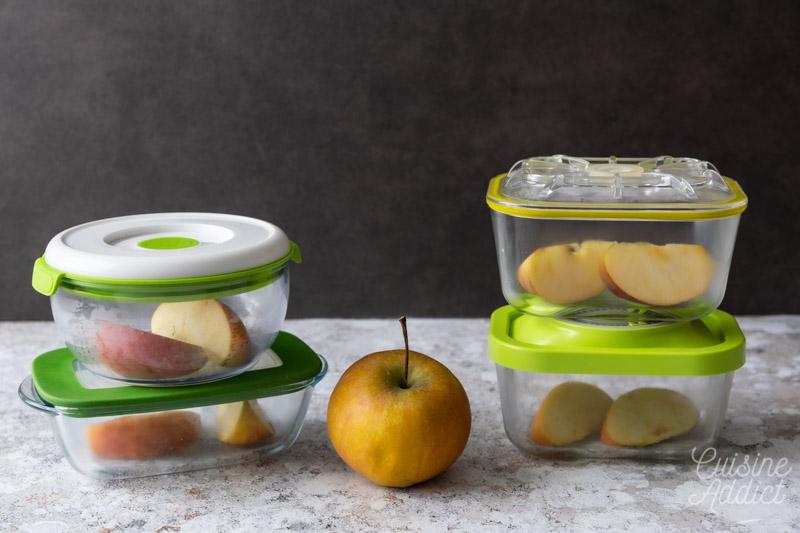 Test de conservation d'une pomme