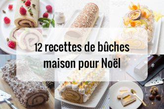 12 recettes de bûches maison pour Noël