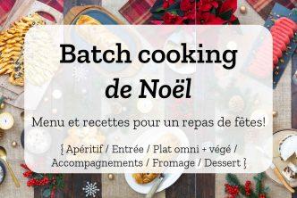 Batch cooking de Noël