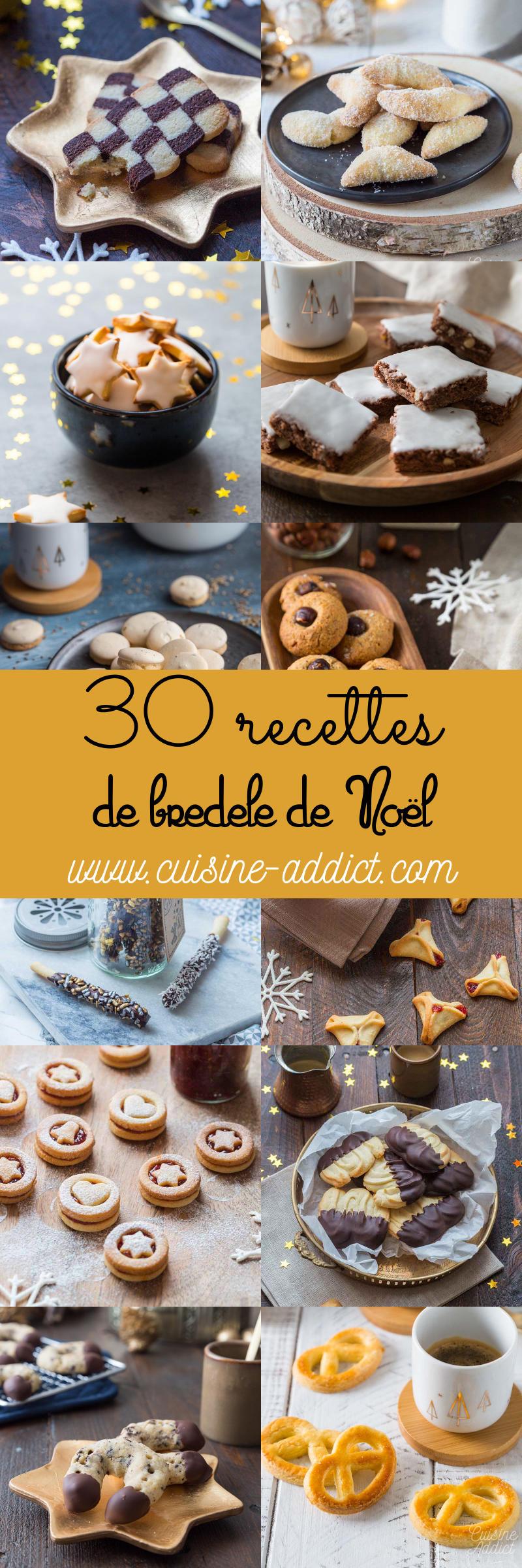 30 recettes de Bredele pour Noël