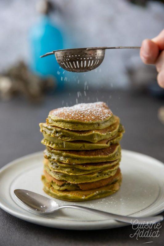 Pancakes au thé vert