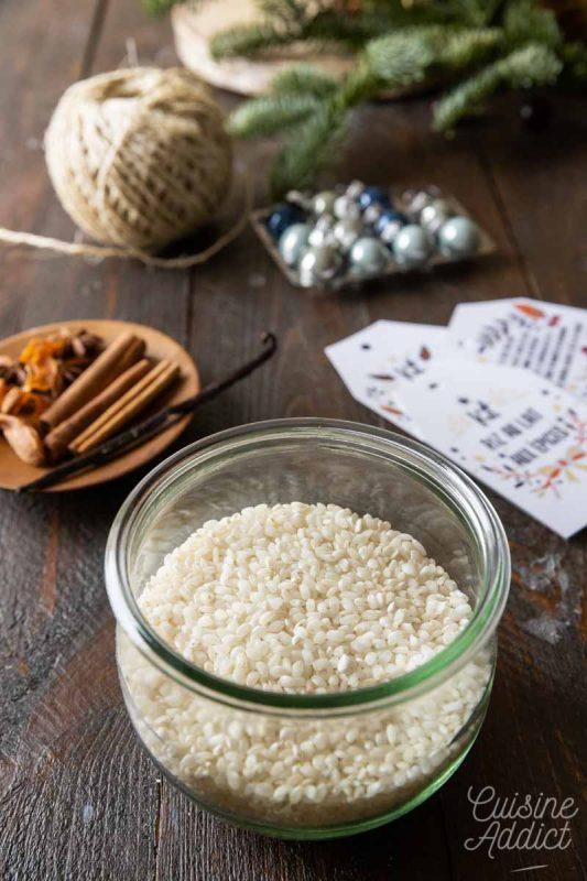 Préparation d'un kit pour riz au lait